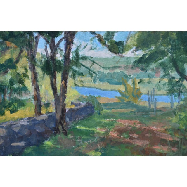 """Contemporary """"River View"""" Contemporary Landscape AcrylicPainting by Stephen Remick, Framed For Sale - Image 3 of 10"""