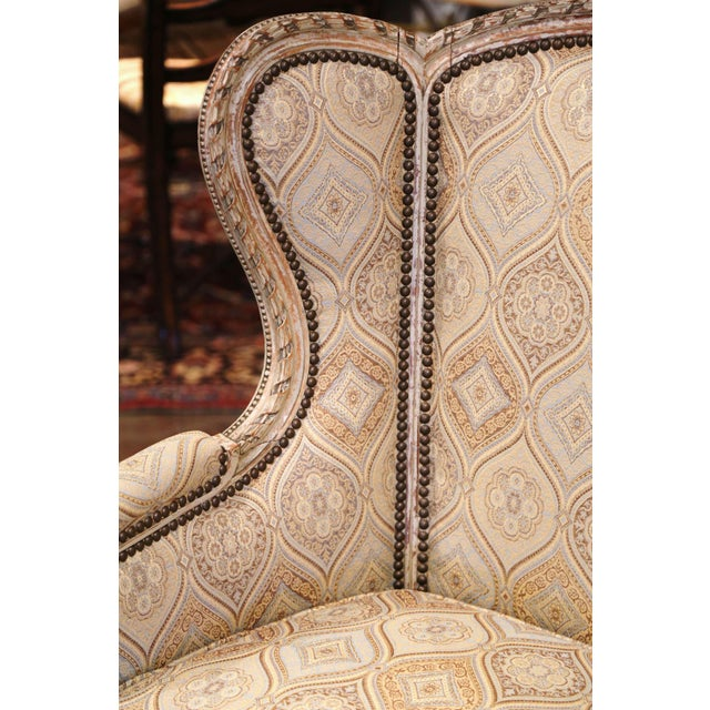 Late 19th Century 19th Century Louis XVI Carved and Painted Ear Shape Fauteuils - a Pair For Sale - Image 5 of 13