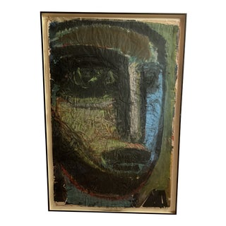 "Mixed Media Collage ""Head"" by Sylvia Schuster For Sale"