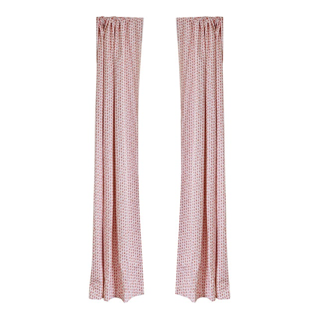 """Pepper Poppy Pink 50"""" x 84"""" Blackout Curtains - 2 Panels For Sale"""