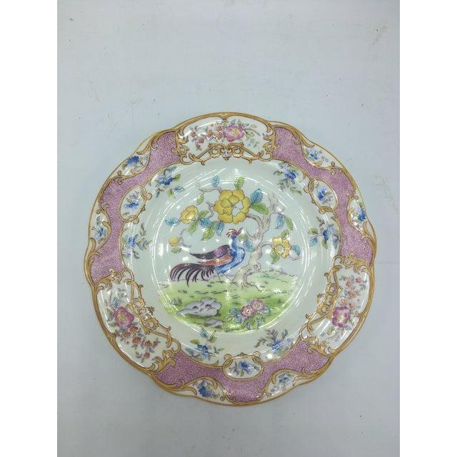 Coalport Porcelain Vintage Coalport Chinoiserie Plate For Sale - Image 4 of 6