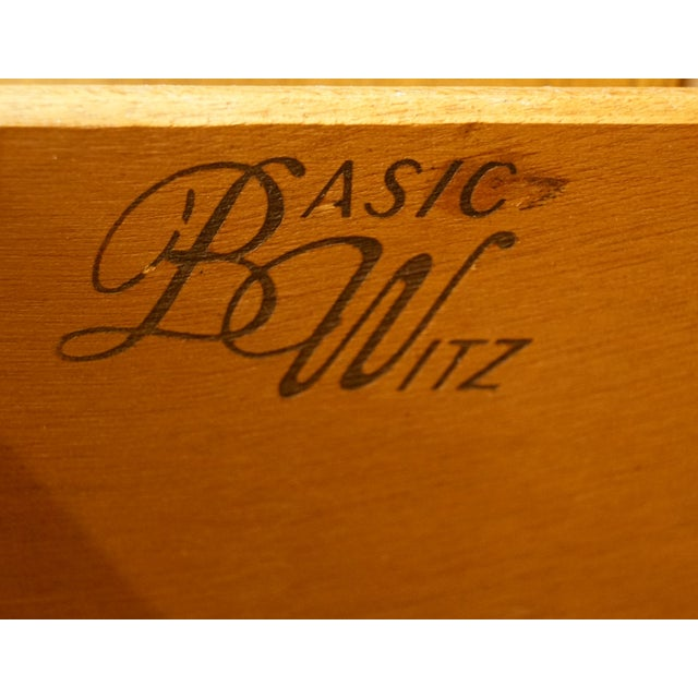Late 20th Century Vintage Basic Witz Spanish Style Walnut Armoire Chest For Sale - Image 5 of 12