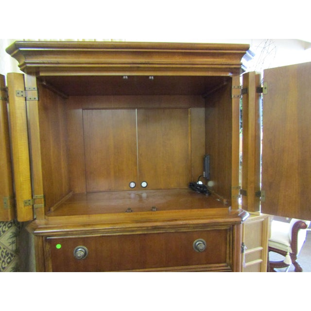 Drexel Furniture Split Bamboo Entertainment Hutch For Sale In West Palm - Image 6 of 9