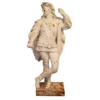 """Antique """"Cavalier"""" Cast Iron Garden Statue For Sale"""