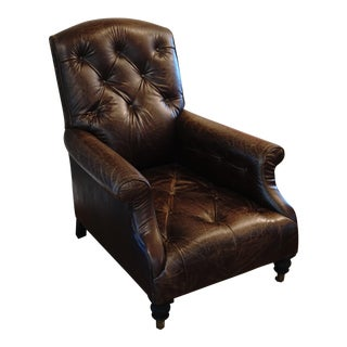 Restoration Hardware Leather Diplomat Chair