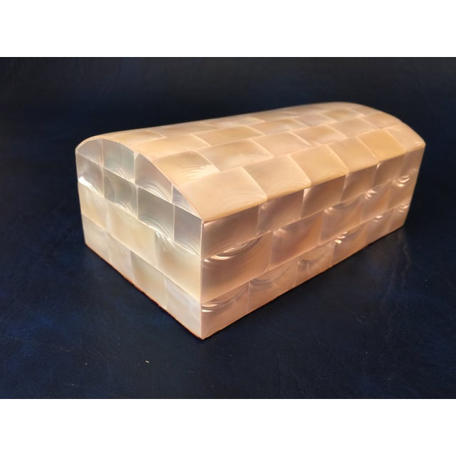 Tessellated Sea Shell Dresser Boxes - Set of 3 - Image 3 of 9