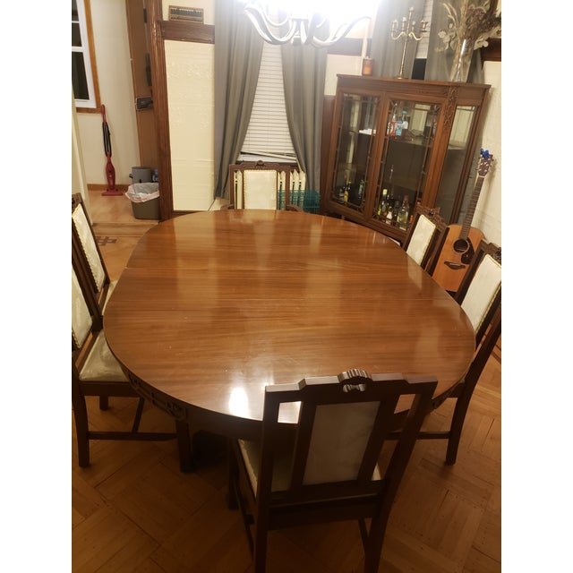 Rare find! Antique dining room table and chairs manufactured by John D. Raab Chair Co. in the early 1900s. Matching...