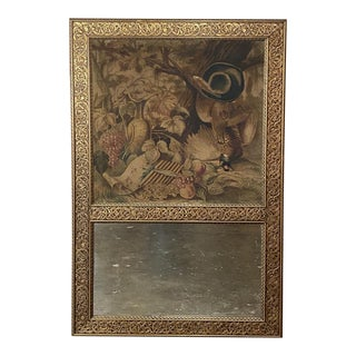 French Art Nouveau Period Trumeau With Tapestry For Sale