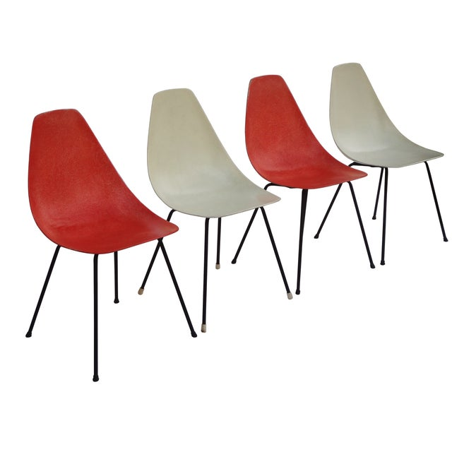 Vintage 1960s Fiberglass Shell Chairs - Set of 4 - Image 2 of 9