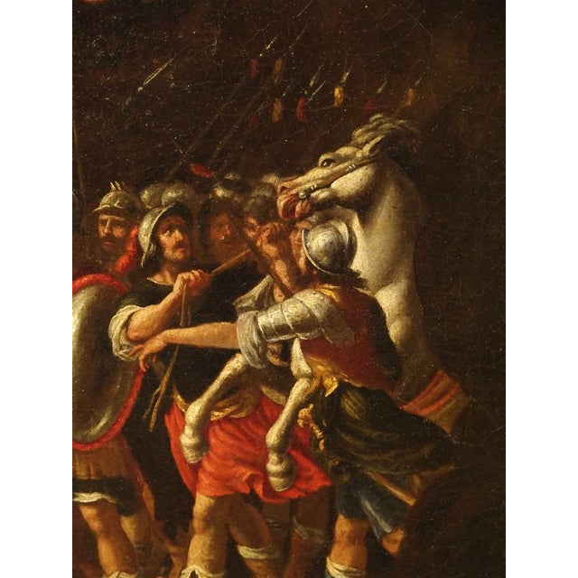 18th Century Italian Oil Painting on Canvas in Giltwood Frame For Sale - Image 4 of 11