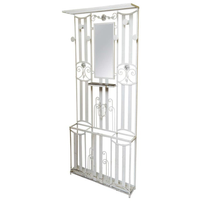 Art Deco French Iron Entry Hall Stand For Sale - Image 11 of 11