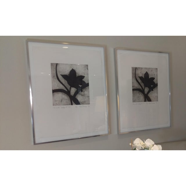 Modern Matching Flower Prints - A Pair - Image 3 of 7