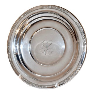 Sterling Sandwich Plate, Circa 1936 For Sale