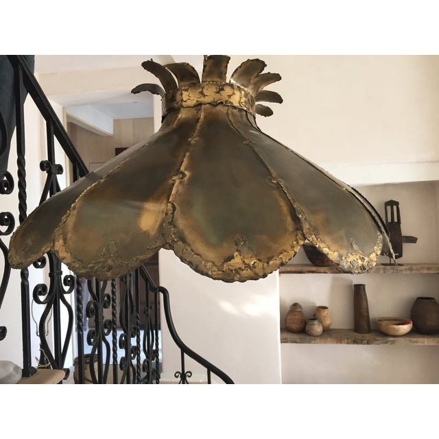 Vintage Brutalist Pendant Light - Image 2 of 5