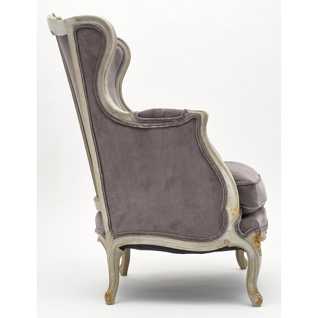 Louis XV Style French Bergère Chairs - a Pair For Sale - Image 9 of 12