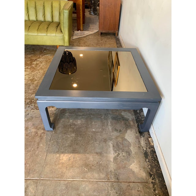 1970s 1970s Asian Style Cocktail Table with Glass For Sale - Image 5 of 10