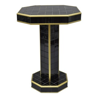 Art Deco Porcelain Tile Pedestal