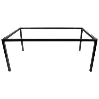 Unusual Cast Aluminum Extension Dining Table With Wall Mount Brackets For Sale