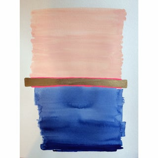 "Jennifer Flannigan ""Navy Stack IV"" Painting"