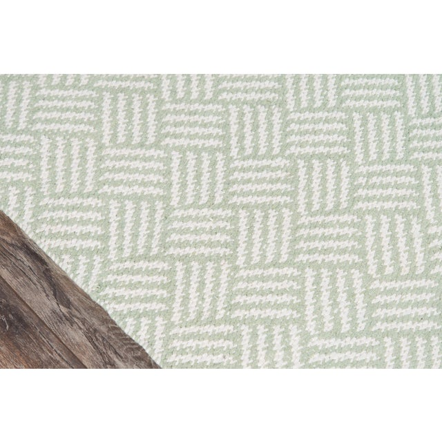 "Contemporary Madcap Cottage Baileys Beach Beach Club Green Indoor/Outdoor Area Rug 3'6"" X 5'6"" For Sale - Image 3 of 7"