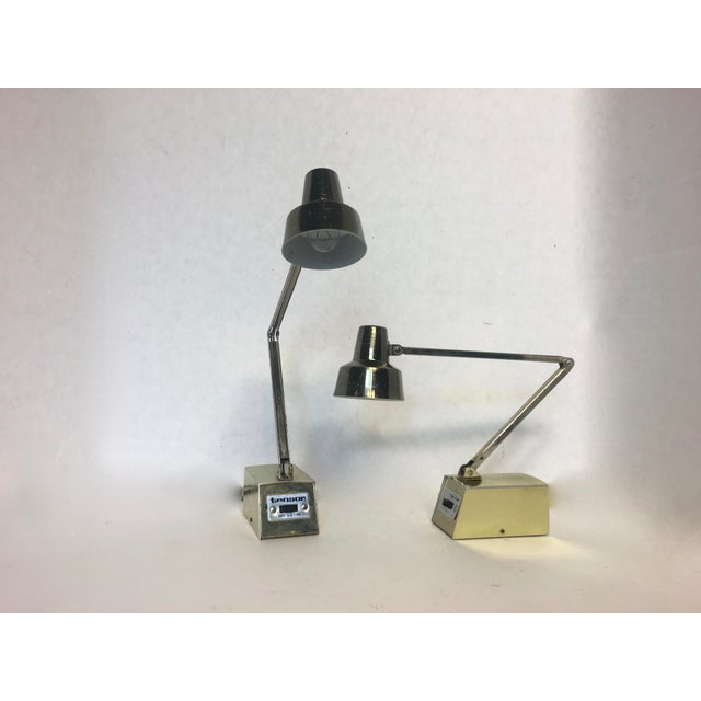 Mid-Century Gold Adjustable Tensor Lamps - A Pair - Image 3 of 7