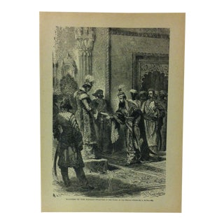 """1916 """"Manners of the Hindus Reception at the Court of the Begum"""" With the World's People Print For Sale"""