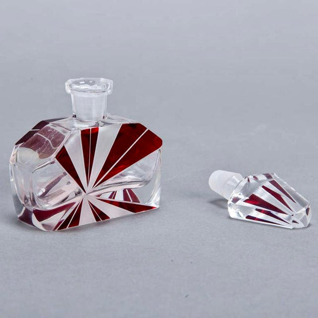 Art Deco Red Perfume Bottle - Image 5 of 5