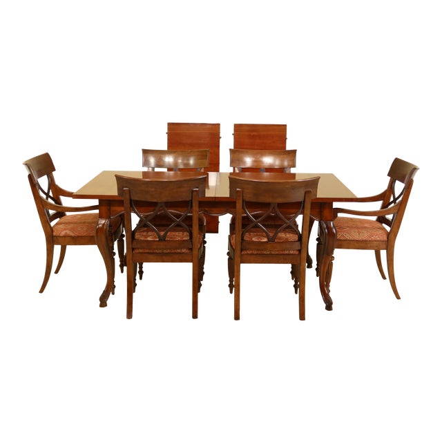 Stickley French Style Dining Room Table & Chairs Set - 7 Pieces For Sale