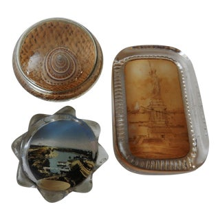 Vintage Paper Weight Collection - Set of 3 For Sale