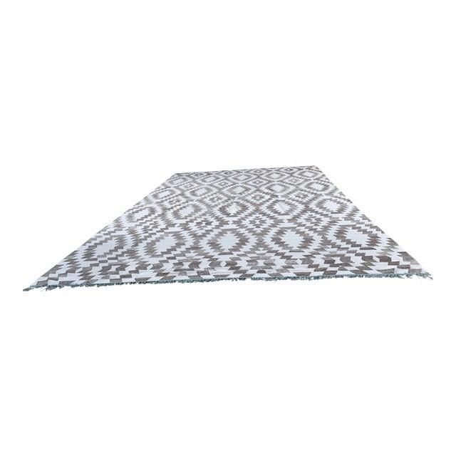 Wool Kilim Area Rug - 12′ × 18′ For Sale