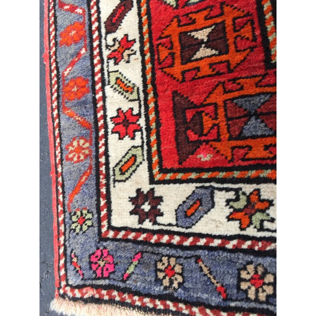 1960s Vintage Turkish Tribal Hand Knotted Runner - 3′10″ × 10′3″ For Sale - Image 5 of 11