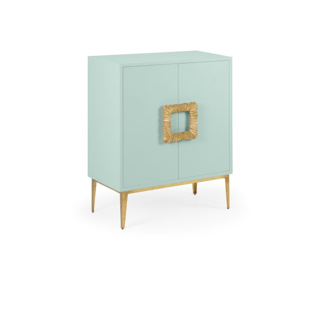 Transitional Mitchell Cabinet, Palladian Blue For Sale - Image 3 of 3