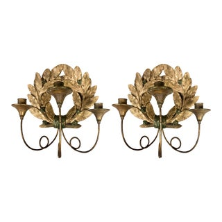Antique Carved French Sconces-A Pair For Sale