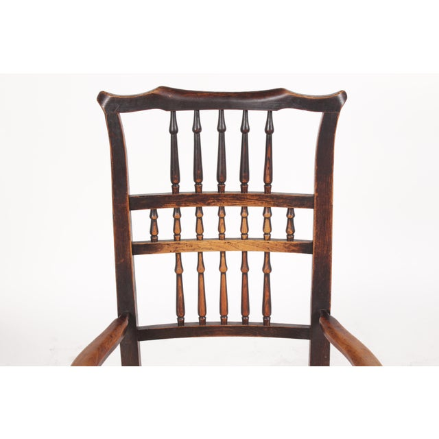 Antique Elizabethan-Style Spindle Chairs - A Pair - Image 4 of 11