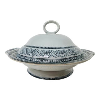 1879 Pinder Bourne & Co Antique Covered Tureen For Sale