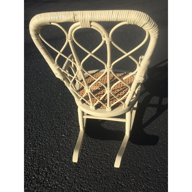Antique Victorian Wicker Childs Rocking Chair For Sale - Image 4 of 9