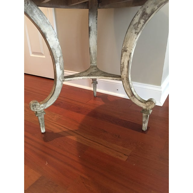 2010s David Latesta Custom Hand Finished White Rustic Table For Sale - Image 5 of 10