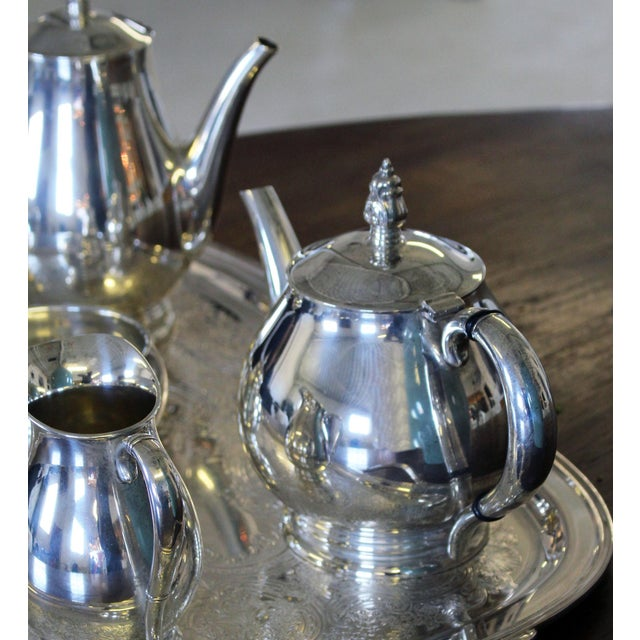 1930s Sterling International Tea Set (6pc.) Royal Danish Pattern For Sale - Image 5 of 7
