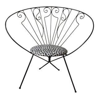 Mid-Century Modern Reilly Wolf Iron Fan Chair