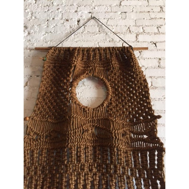 Vintage Large Weave Woven Art Wall Hanging - Image 7 of 8