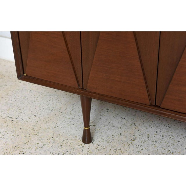 Italian Modern Walnut Sideboard or Buffet or Credenza in the Style of Gio Ponti For Sale - Image 9 of 9