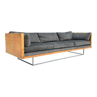 1970s Mid-Century Modern Milo Baughman for Thayer Coggin Floating Case Sofa For Sale