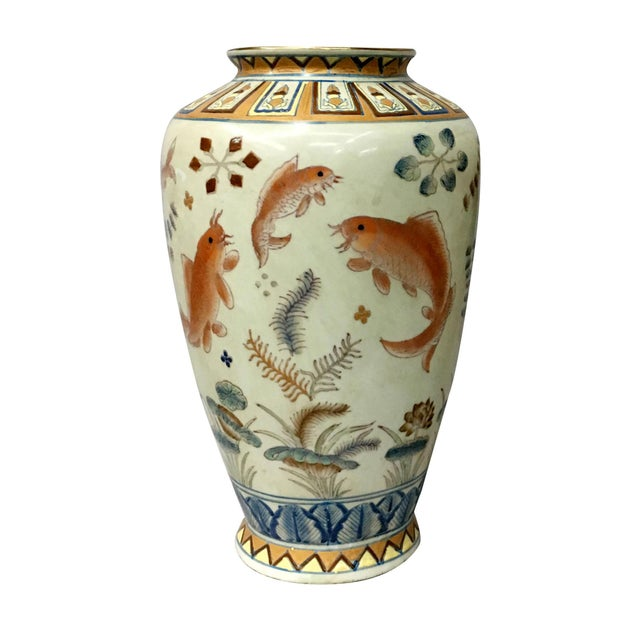 Gold Fish Design Vase For Sale In New York - Image 6 of 6