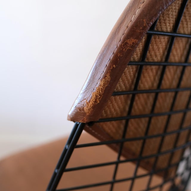 Eames Dkw-2 Dowel Wire Chair With Leather Bikini Cover For Sale - Image 11 of 13
