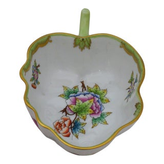 Queen Victoria Leaf Shaped Dish by Herend For Sale