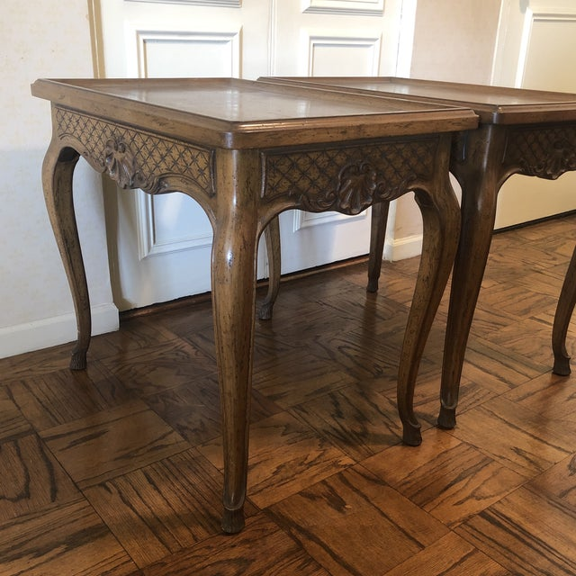 1960s French Style End Tables - a Pair For Sale - Image 9 of 11