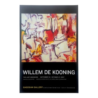 "Willem De Kooning Rare Lmtd Edtn Abstract Expressionist Lithograph Print Gagosian Gallery Exhibition Poster "" Untitled II "" 1980 For Sale"