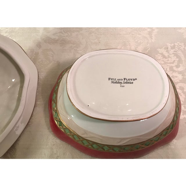 Fitz & Floyd Holiday Covered Serving Dish - Image 10 of 11