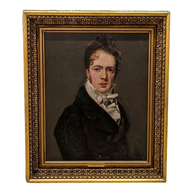 Manner of John Constable, RA (British 1776-1837) Self Portrait Oil Painting on Canvas For Sale