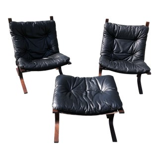 Siesta Chairs & Ottoman by Ingmar Relling for Westnofa For Sale